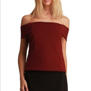 Walter Baker Eve Off-the-Shoulder Fitted Top